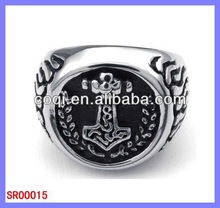 High quality stainless steel rings ceramic cross partition ring