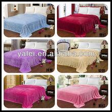 2014 Hot Sale top grade Carving Flannel fleece blanket