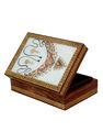 caixa de jóias de pedra gems pintura pintada à mão caixa de madeira jóias