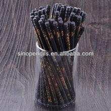 Black wooden pencil with eraser top