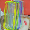 Transparent scratch-resistant yakeli PC case TPU border case for samsung S4 I 9500 with dustproof plug