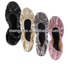 2014 decorated indoor winter bulk wholesale leather ballet shoes
