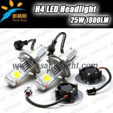 New car h4 headlight factory best Led lighting cheap price,50W 3600LM Car led Hi/Low H4 headlight,c ree led H4 headlight