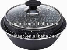 Aluminum stone stock pot titanium set overstock liquidator