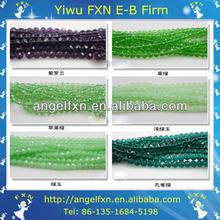 14mm green jade antique venetian glass beads