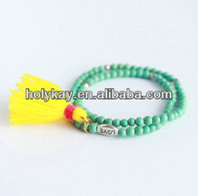 2014 ladys fashion turquoise beads braclet, hot sale items in alli express