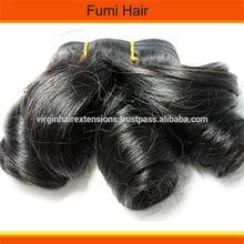 factory supply, virgin Indian human hair weave fumi hair