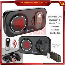 bluetooth 4.0 sun visor handfree car kit speaker headset for iphone ipad