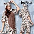 algodão moda feminina noite de verão de uma peça curta de leopardo grirls traje vestido festa