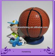 basketball with kid money bank