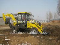cheap used backhoe loader 6ton China tire excavator loader backhoe