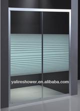 folding aluminum frame bath shower screen