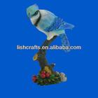 Polyresin bird, polyresin animal, blue bird figurines