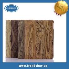 Wood grain 360 degree rotate for ipad 2 3 4 5 mini case