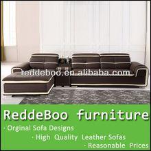 geuine leather l shape sofa