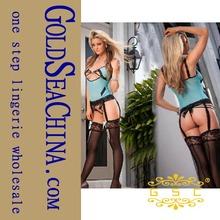 Blue underwear erotic lingerie corsets garter