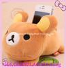 soft plush high quality teddy bear plush phone holder