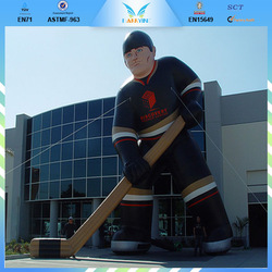 "inflatable model advertising,30"" tall giant inflatable hockey player BY-IM015"