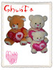 fangle stuffed plush toy lovely family bear with heart