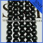2014 fashion 12 mm black perfect round sale pearl shell