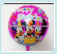 Happy Birthday Theme 18 inch Helium Balloons with Cartoon Printing