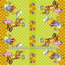 Disney printed flannel backing tablecloth/cartoon tischdecken