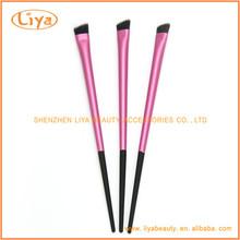 Ruber plastic handle angled brow brush