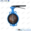 6'' Cast iron wafer butterfly valve with pin