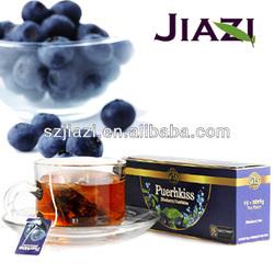 Puer blueberry tea chinese health tea
