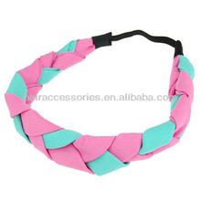Fashion Classic Knitting Candy Color Hair Ribbon Wide Headband Head Turban