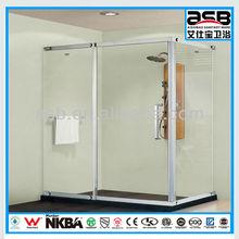 Stainless Steel framed fancy shower door hardware
