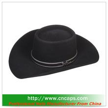 cheap felt cowboy hats with custom logo for promotion