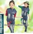 2014 novo modelo crianças jeans designer saia meninas vestidos jeans
