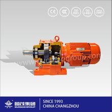 China gearbox gear motor GR series speed reducer guomao horizontal bending rolls speed reducer