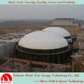 سقف أعلى خزان لتخزين الغاز غشاء مزدوج فضلات الطعام إلى وقود