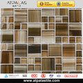 Tv sfondo rivestimenti, dimensioni standard mosaico, mix marrone mosaico di vetro di cristallo tilehome decorazione economici mattonelle di mosaico