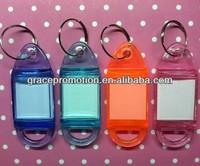 Plastic custom shape keychain