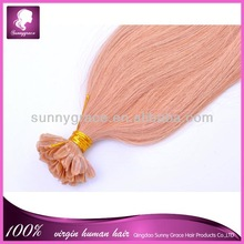 Alibaba express Hot sale delicate colors & various styles nail in Peruvian hair extension