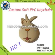 PVC Keychain 1 Side Soft PVC Keyring 1 Side 3D Rubber Keychain