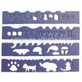 Pp 15.5cm reusefulla de plástico de los animales de la plantilla