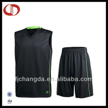 100% Polyester high quality cheap basketball uniform set wholesale