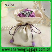 2014 fashion satin wedding favor bags