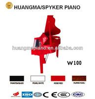 Digital Piano 88 keys Red Polish Digital Grand Piano HUANGMA HD-W100 red grand digital piano guitar cords