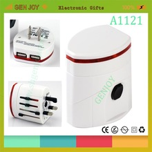 Promotional new gift travel adaptor set with case
