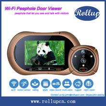 new wifi based house design electronic eye door,audio door phone,wireless door viewer