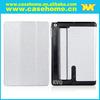 Custom high qualtiy PU leather folding case with hand strap for ipad air