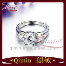 2014 ultimo caldo vendita moda 1 carato solitario anello di diamanti