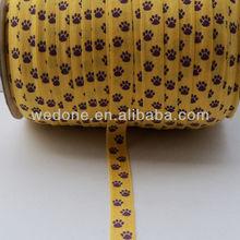Claws Printed foe Elastic Ribbon For Hair Ties