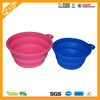 2014 Food Grade Hot Selling Portable Folding Silicone Pet Bowl