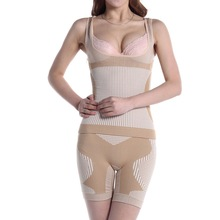 New thin split post partum corset vest body sculptin underwear sets two piece bamboo shaper